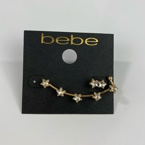 Bebe Star Earrings Ear Cuff NWT $19